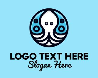 Endangered - Ocean Sea Octopus  logo design