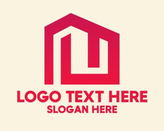 Architect - Red Maze House logo design