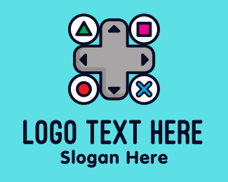 Game Vlogger - Gaming Control Buttons logo design