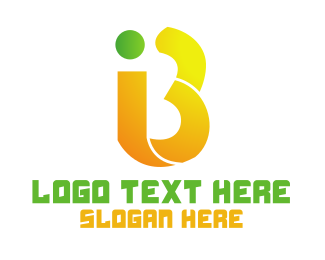 Monogram - Yellow IB Monogram logo design