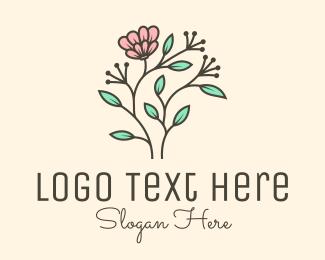 Dahlia - Feminine Flower Stem logo design