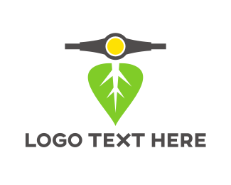 Commute - Leaf Scooter logo design