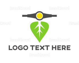 Commute - Leaf Scooter logo design