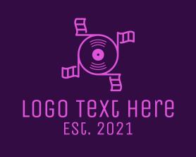 Music Flag Disc Logo