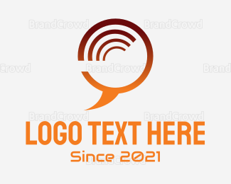 Snapchat - Orange Communication Bubble logo design
