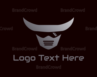 Character - Shaded Armored Bull logo design