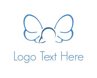 Dragonfly - Fly Blue Logo logo design