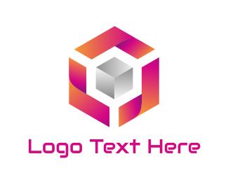 Orange And Pink - Modern Gaming Company logo design
