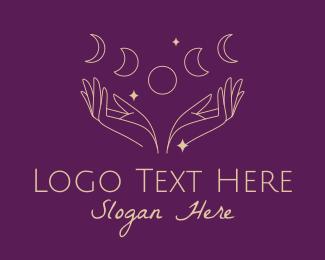Fortune Teller - Moon Phases Astrology logo design
