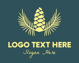 Cone - Yellow  Acorn logo design