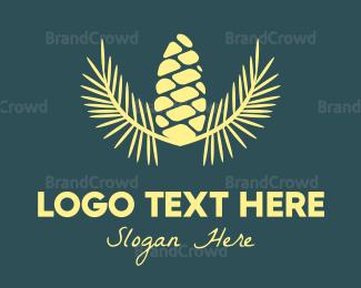 Cone - Black Acorn  logo design