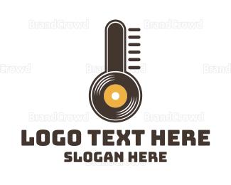 Degree - Temperature Records logo design