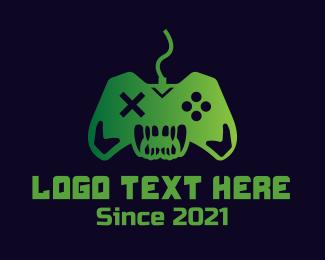 Ps4 - Game Monster Controller logo design