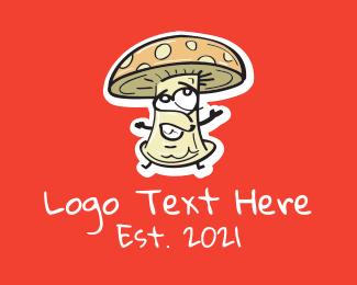 Mushroom - Cartoon Mushroom Veggie logo design