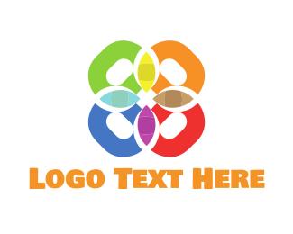 Kaleidoscope - Colorful Flower logo design