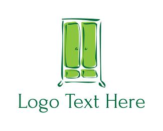 Closet - Green Cupboard logo design