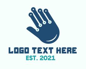 Chiropractic - Technological Hand logo design