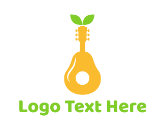 Pear - Pear Guitar  logo design