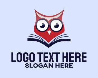 Book - Owl Book logo design