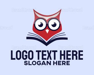 Editor - Owl Book logo design