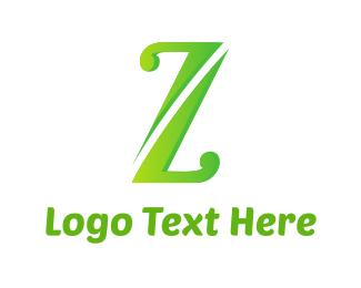 Letter Z - Green Letter Z logo design