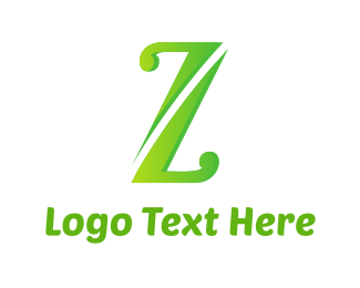 Massage - Green Letter Z logo design