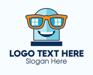 Window - Window Glasses Mascot logo design