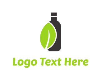 Juice - Green Leaf Drink logo design
