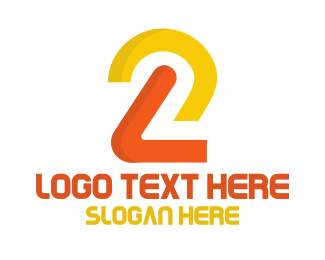Two - Minimalist Number 2 logo design