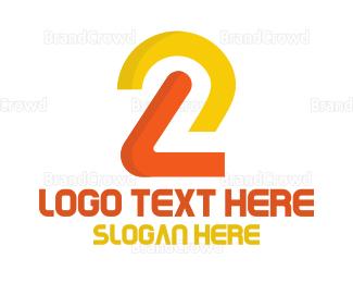 Second - Minimalist Number 2 logo design