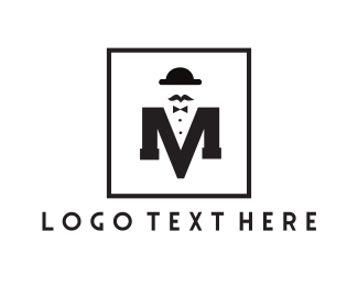 Stag Party - Fashionable Letter M logo design