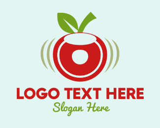 Green And Red - Cherry Donut logo design