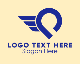 Abstract Delivery Wings  Logo