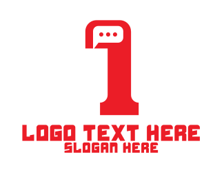 Discord - Minimalist Chat Number 1 logo design