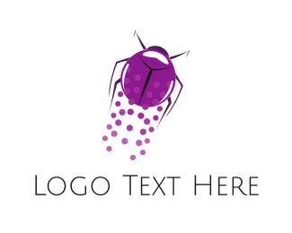 Antenna - Flying Beetle logo design