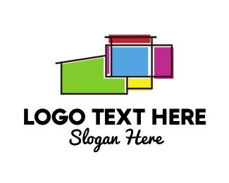 Architecture - Colorful Wall Architecture logo design