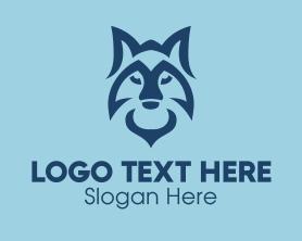 Jackal - Wild Blue Fox logo design