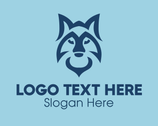 Coyote - Wild Blue Fox  logo design
