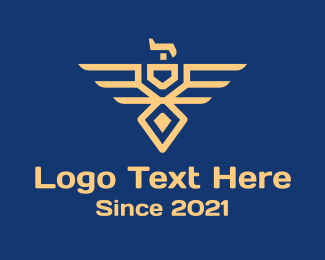 Minimalist - Military Eagle Badge logo design