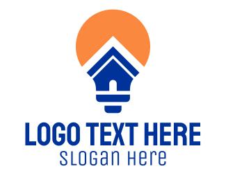 Architecture - Bulb House logo design