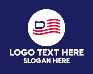 """""""America Letter D Flag"""" by JimjemR"""