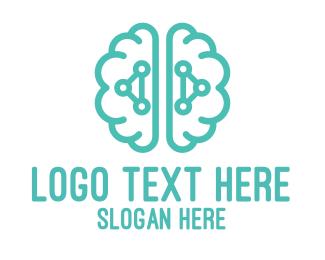 Psychotherapy - Teal Brain Logic logo design