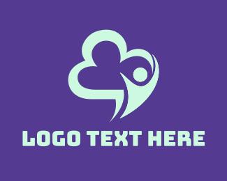 Foundations - Blue Cloud Man logo design