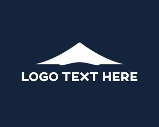 Volcano - Snow Mountain  logo design