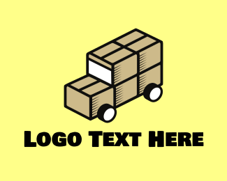 Logistics Company - Box Truck logo design