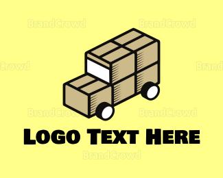 Back - Box Truck logo design