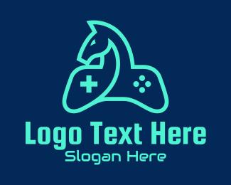 Fortnite - Game Controller Horse  logo design