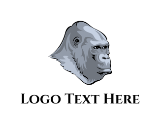 Stone - Grey Gorilla logo design