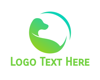 Labrador - Green Dog Earth logo design
