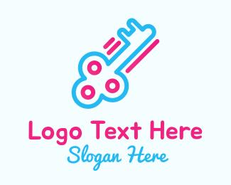 Key Cutting - Key Outline logo design